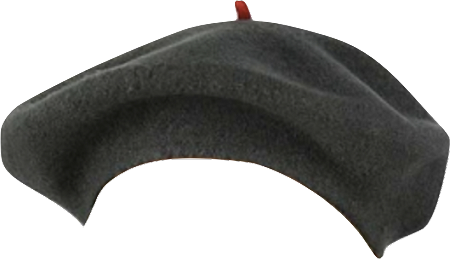 svg transparent download Beret transparent gray. Grey wool vincent pradier
