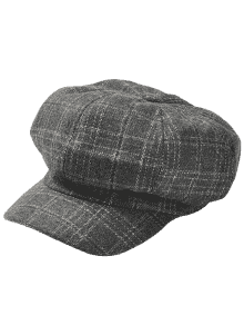 svg freeuse download Vintage checked pattern wool. Beret transparent gray