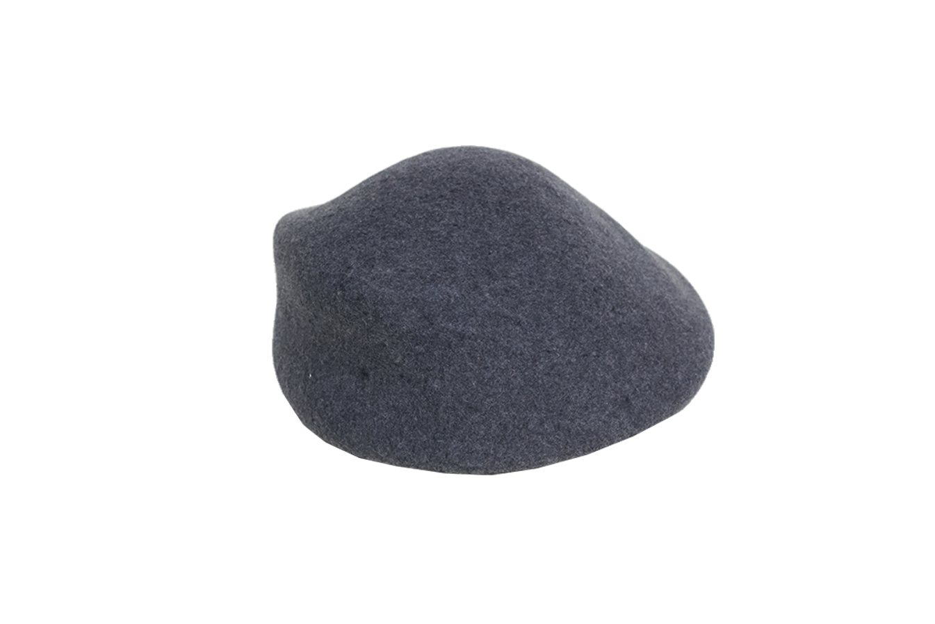 banner library Sazy hat in charcoal. Beret transparent gray