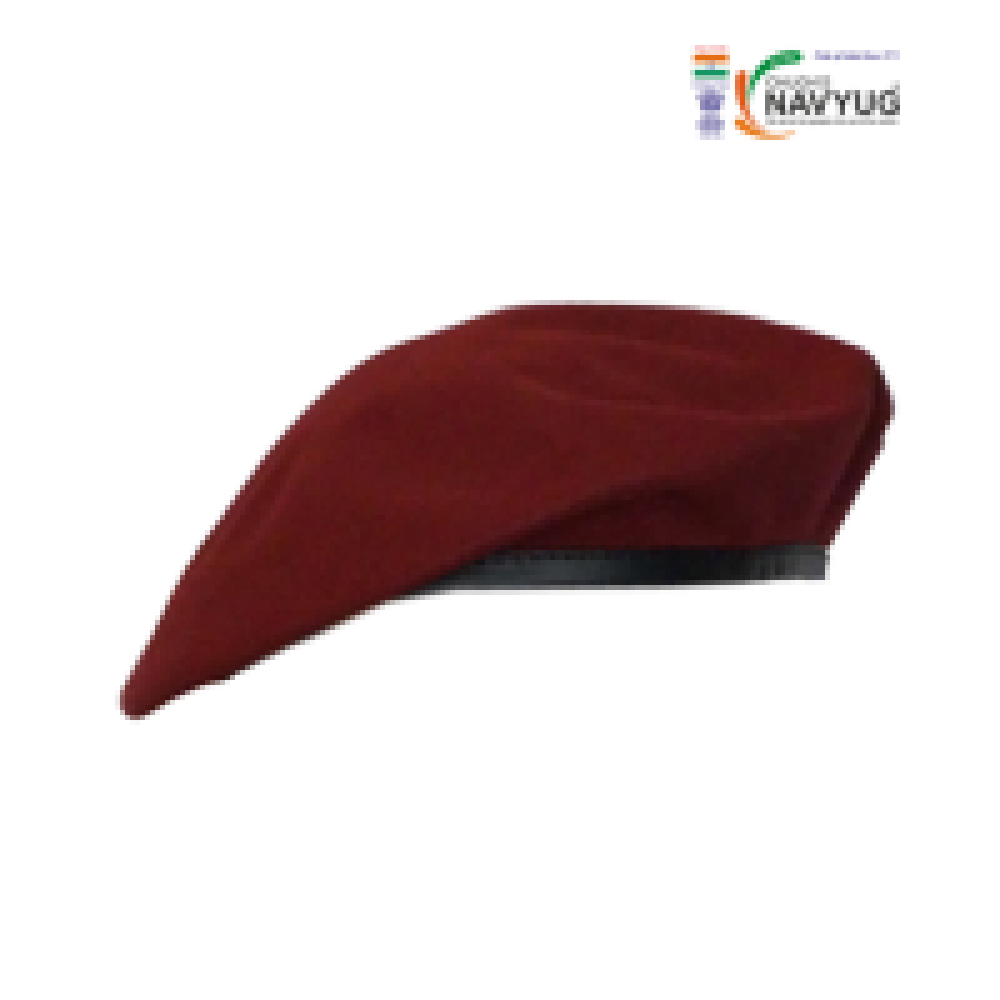 freeuse library beret cap maroon light weight