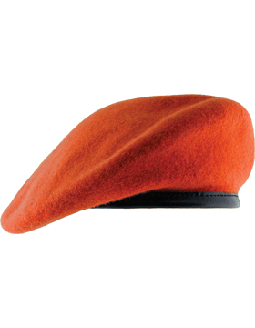 banner stock Fitted Berets with Leather Sweatband
