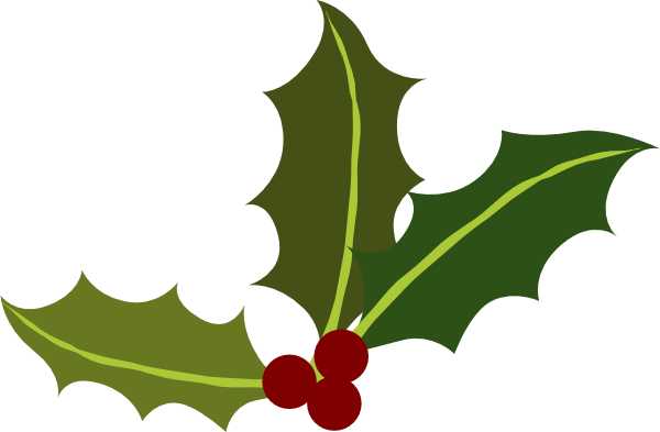 clip art transparent Holly Leaves With Berries Clip Art at Clker
