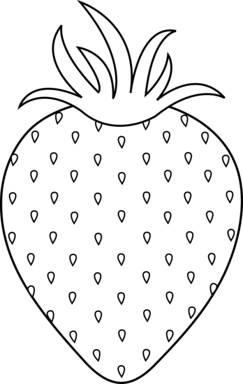 jpg library download strawberry clipart black and white #58822870