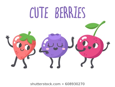 clip art black and white stock Berries clipart cute. Berry portal
