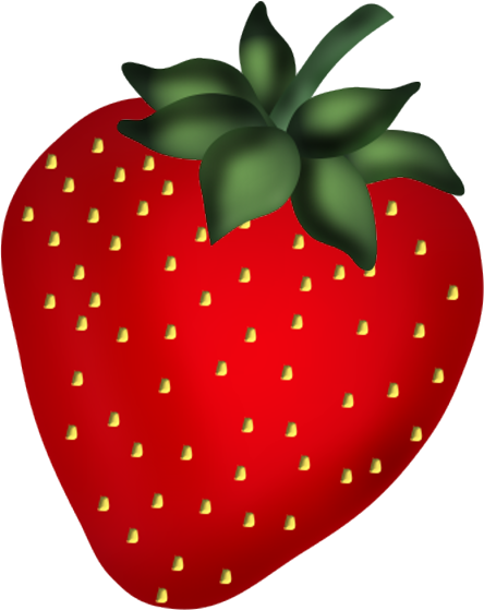 graphic black and white STRAWBERRY CLIP ART