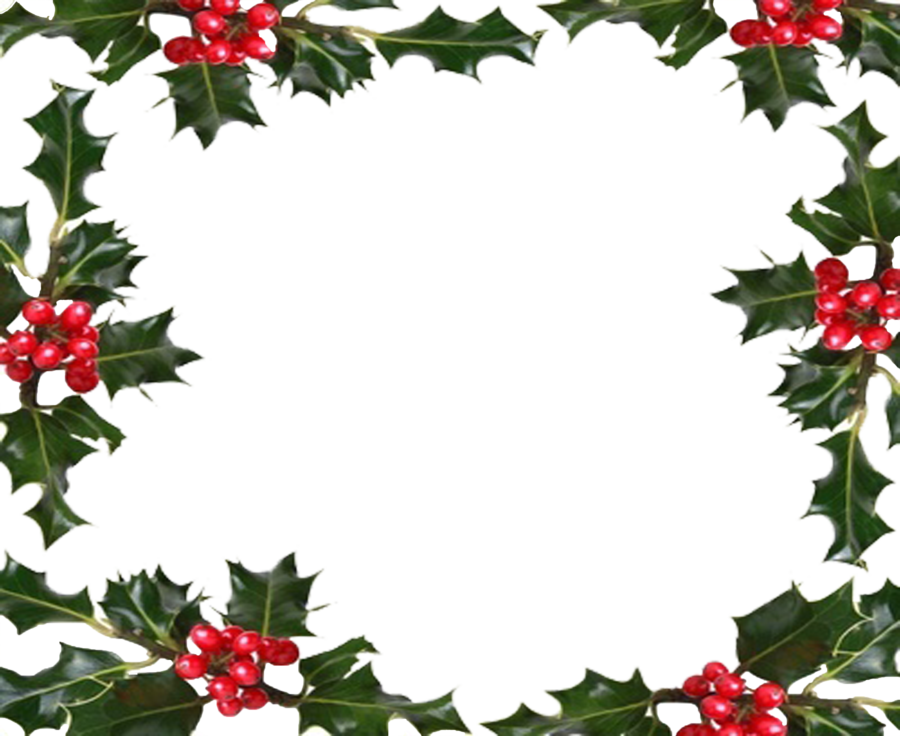 picture black and white stock Boarder clipart holly. Holiday berry border by