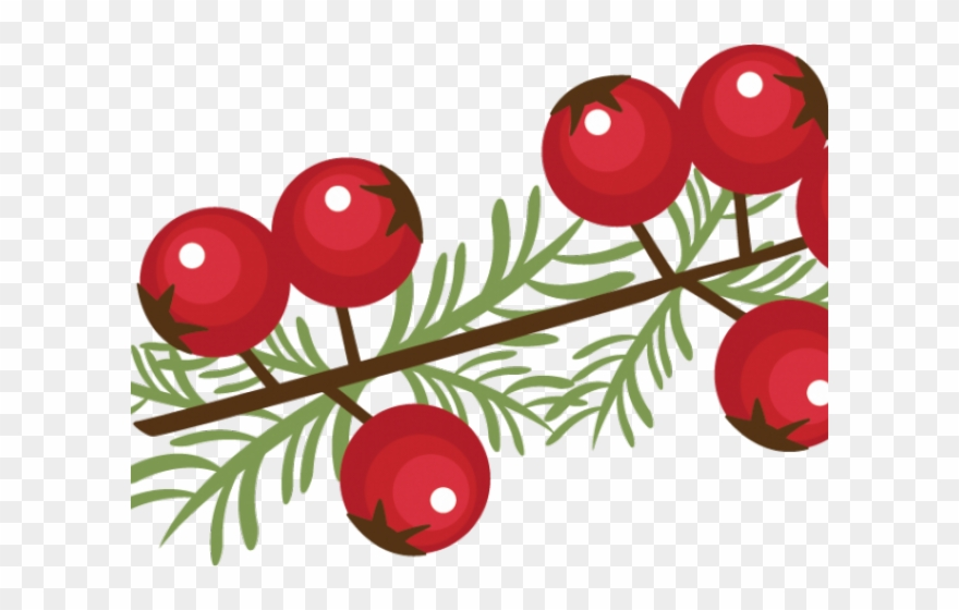 svg freeuse library Berry clipart christmas. Winter clip art berries.