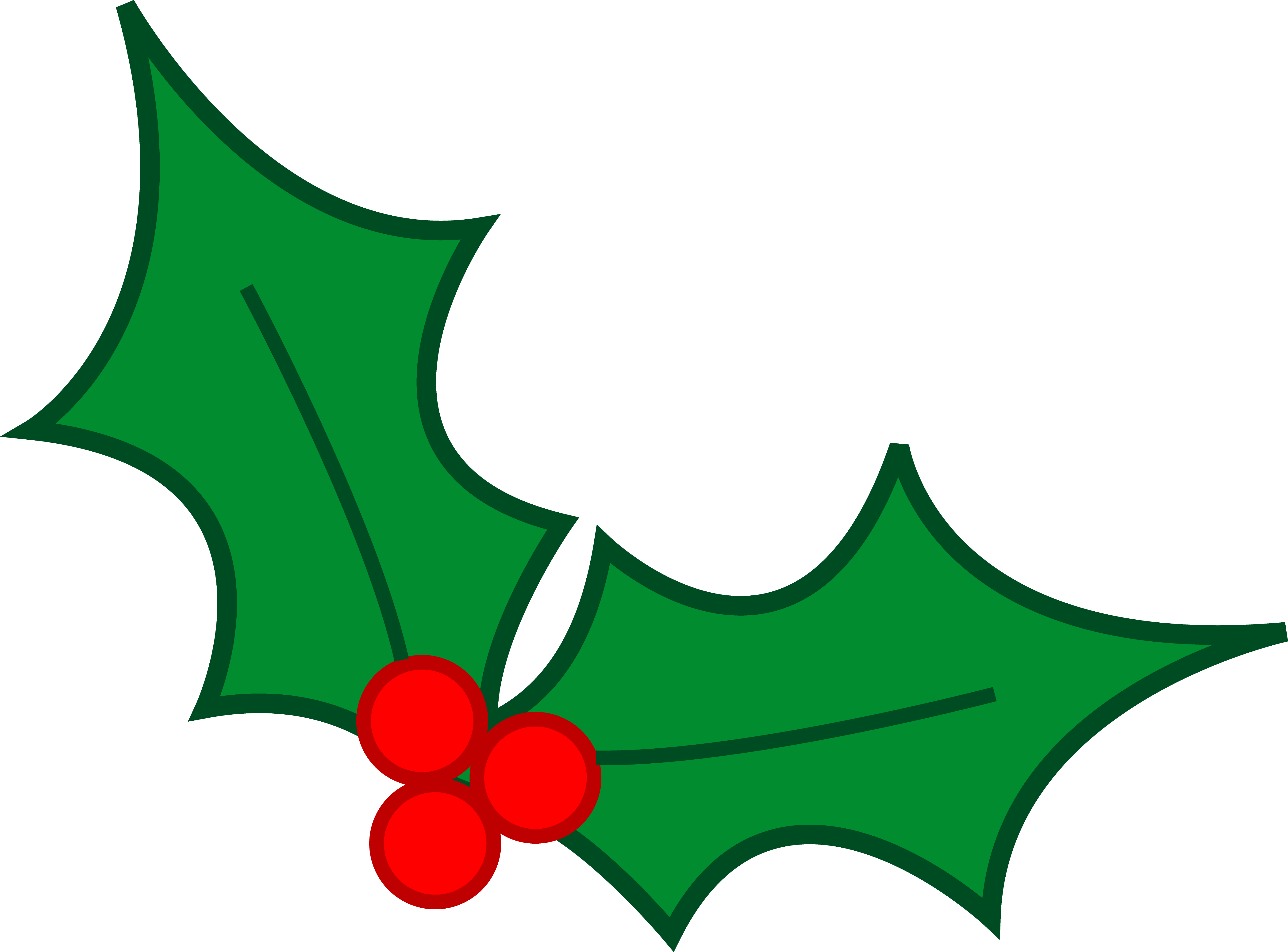 vector Berry clipart christmas. Holly leaves free on.