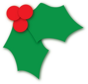 banner freeuse Free image holly leaves. Berry clipart christmas.
