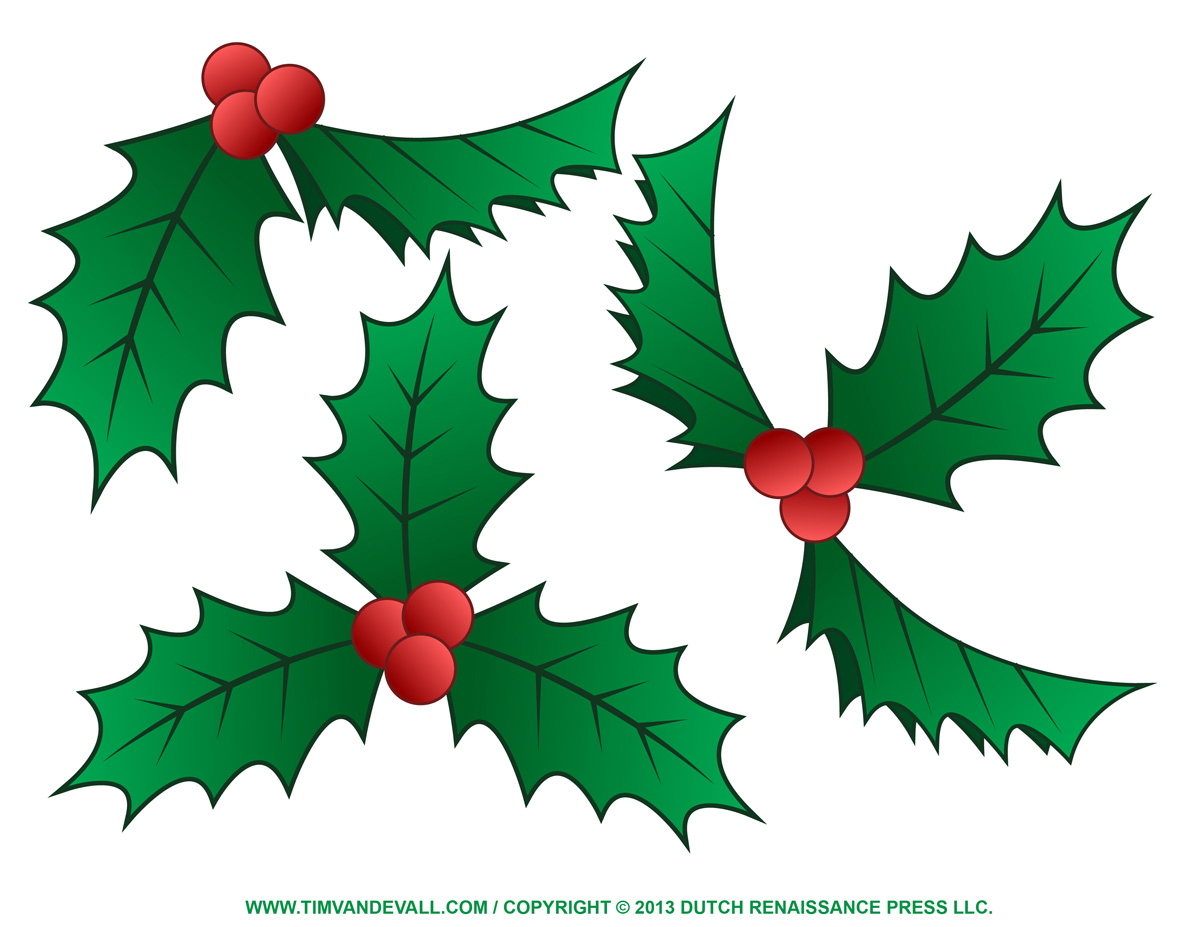 picture freeuse Berry clipart christmas. Free holly download clip.