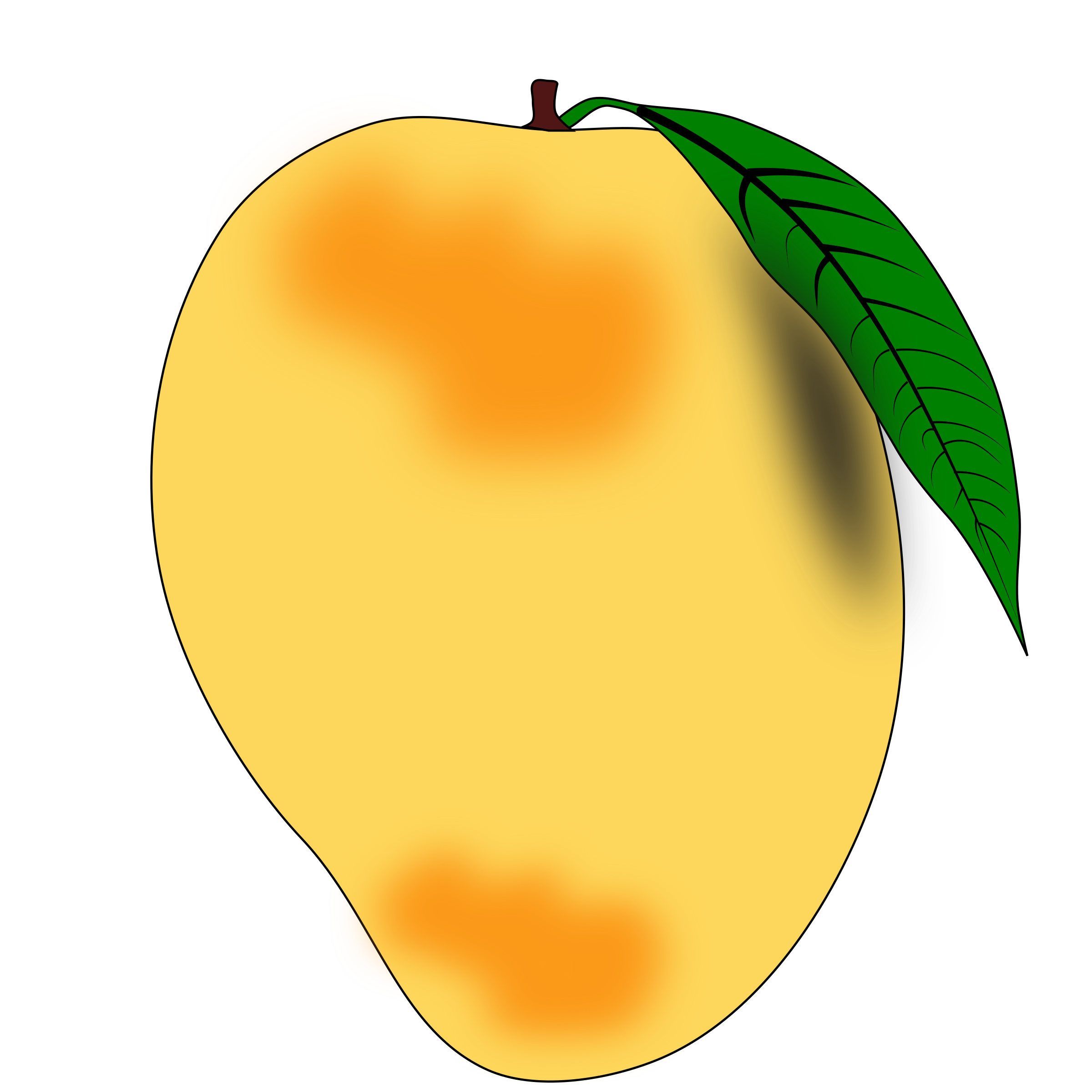 graphic download Clipart Mango Tree Black And White