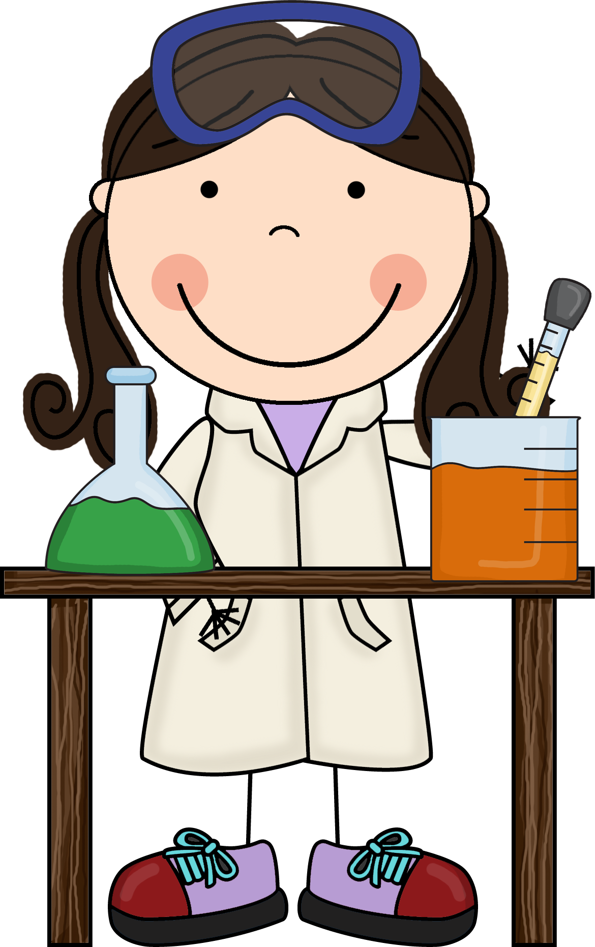 freeuse download Learn clipart girl. Science free best ciencia.