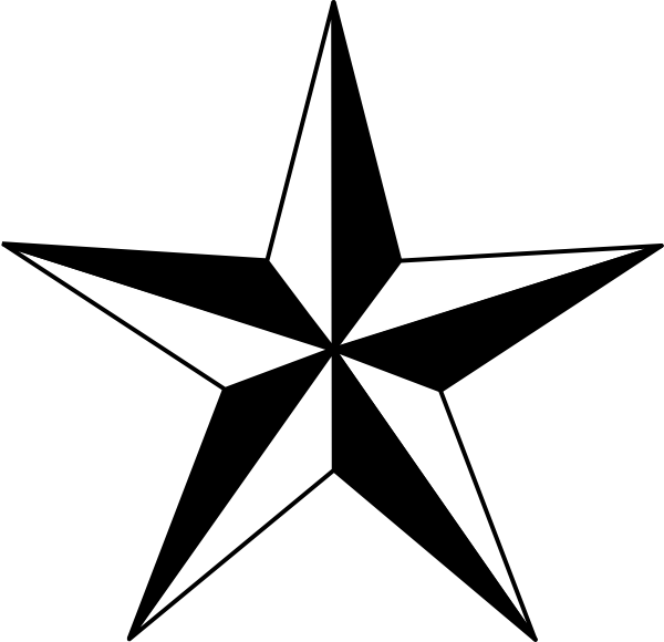 banner transparent download Black Nautical Star clip art