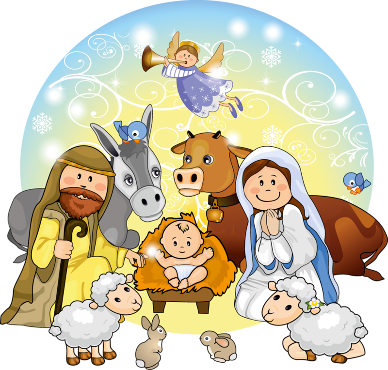 vector library download Nativity clipart season. Cute christmas scene clip.