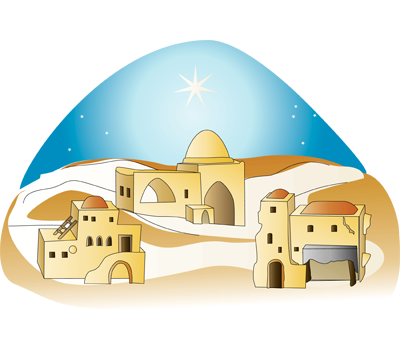 clip art library stock Day days of christmas. Bethlehem clipart o little town.