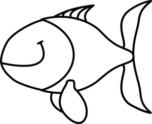 graphic black and white library Black And White Fish Drawing at GetDrawings