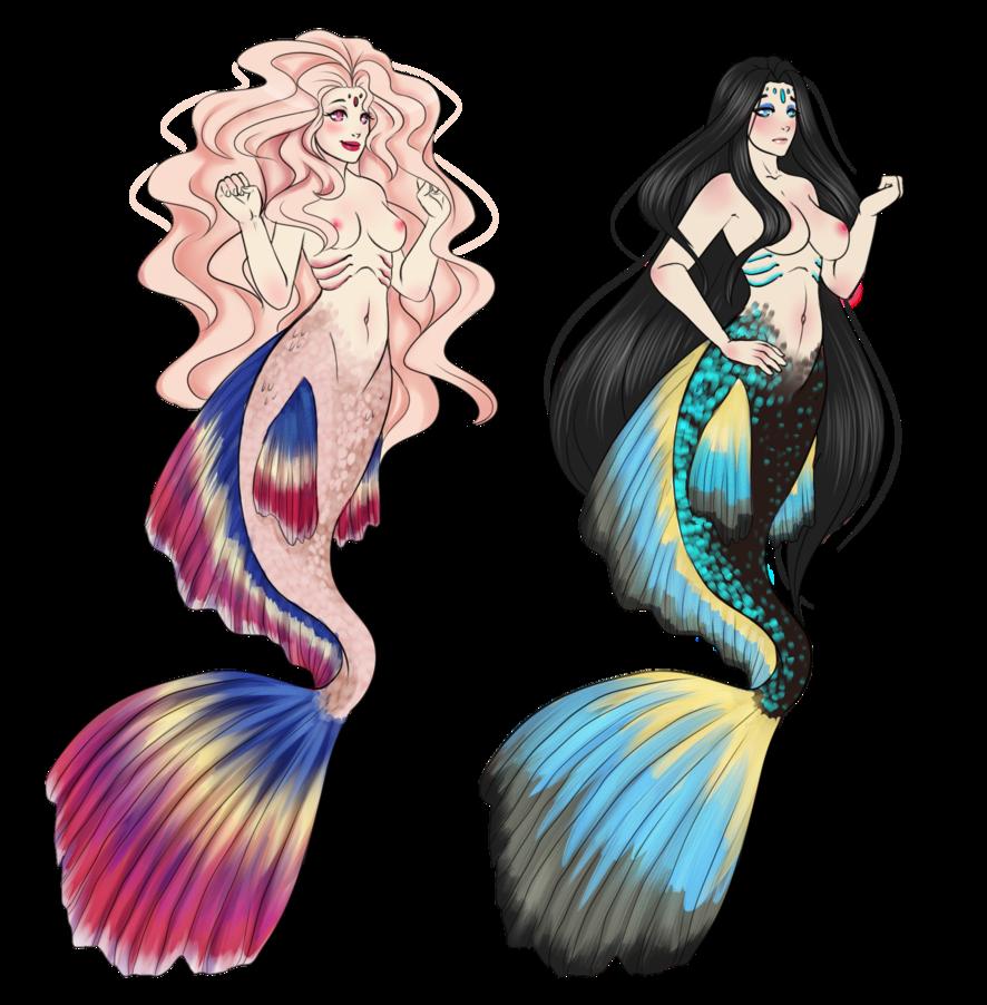 clip Betta Mermaid by Akira