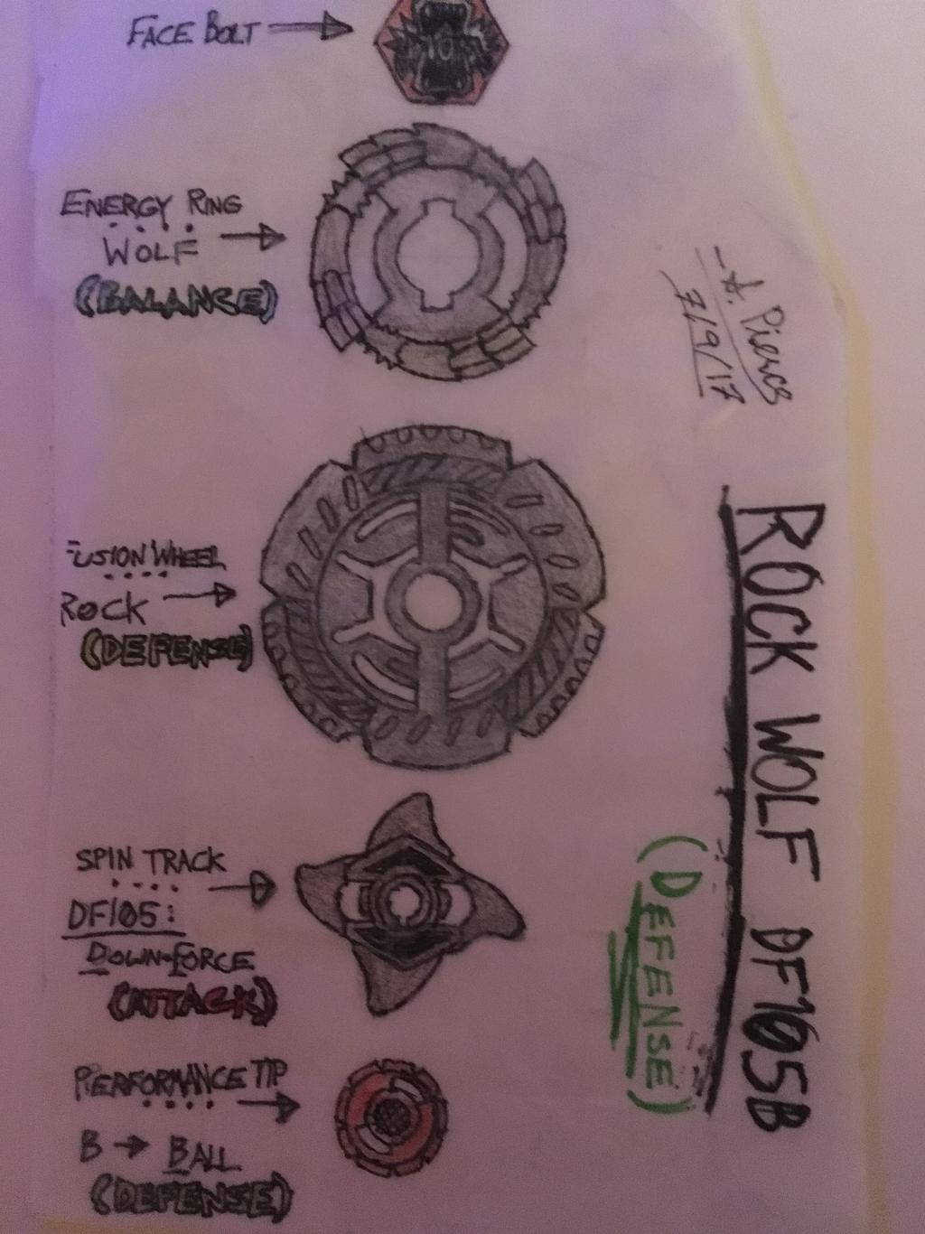 clip freeuse library Beyblade drawing custom. Rock wolf df b