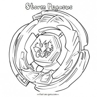 vector royalty free download Printable storm coloring pages. Beyblade drawing pegasus