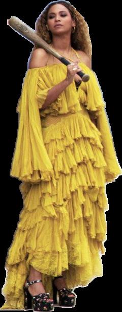 png freeuse stock Yellow music album yellowdress. Beyonce transparent lemonade