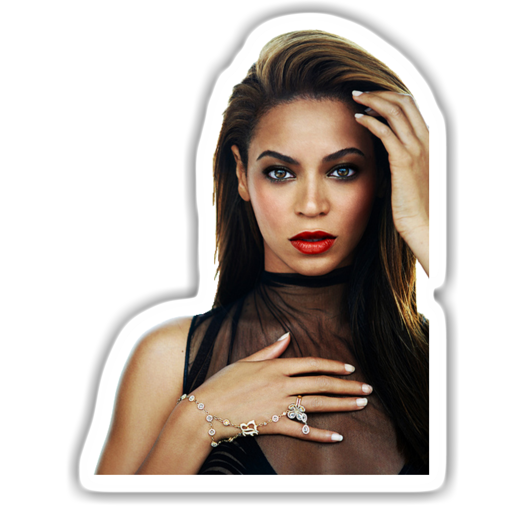clip stock Beyonce transparent sticker.  face png for