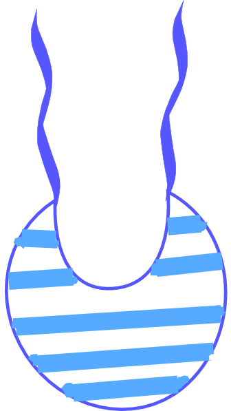 free Bib clip. Blue white striped art