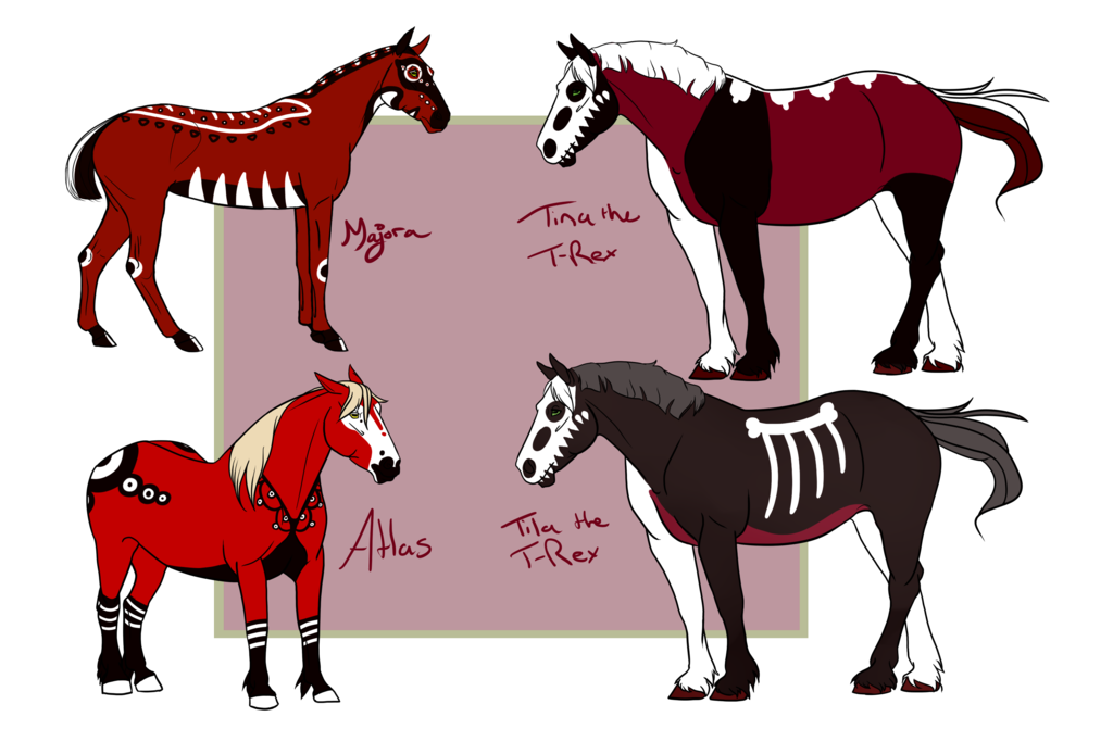 png Harlequine journal tracker by. Bib clip bad horse