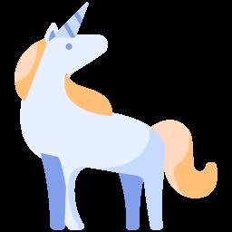 image Unicorn icon role playing. Bib clip bad horse