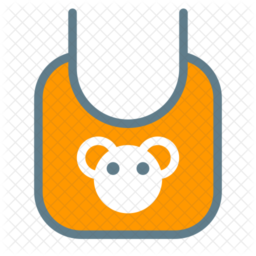 royalty free download Bib clip napkin. Icon kids icons in