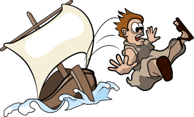 png transparent stock Image jonah tossed from. Bible clipart boat.