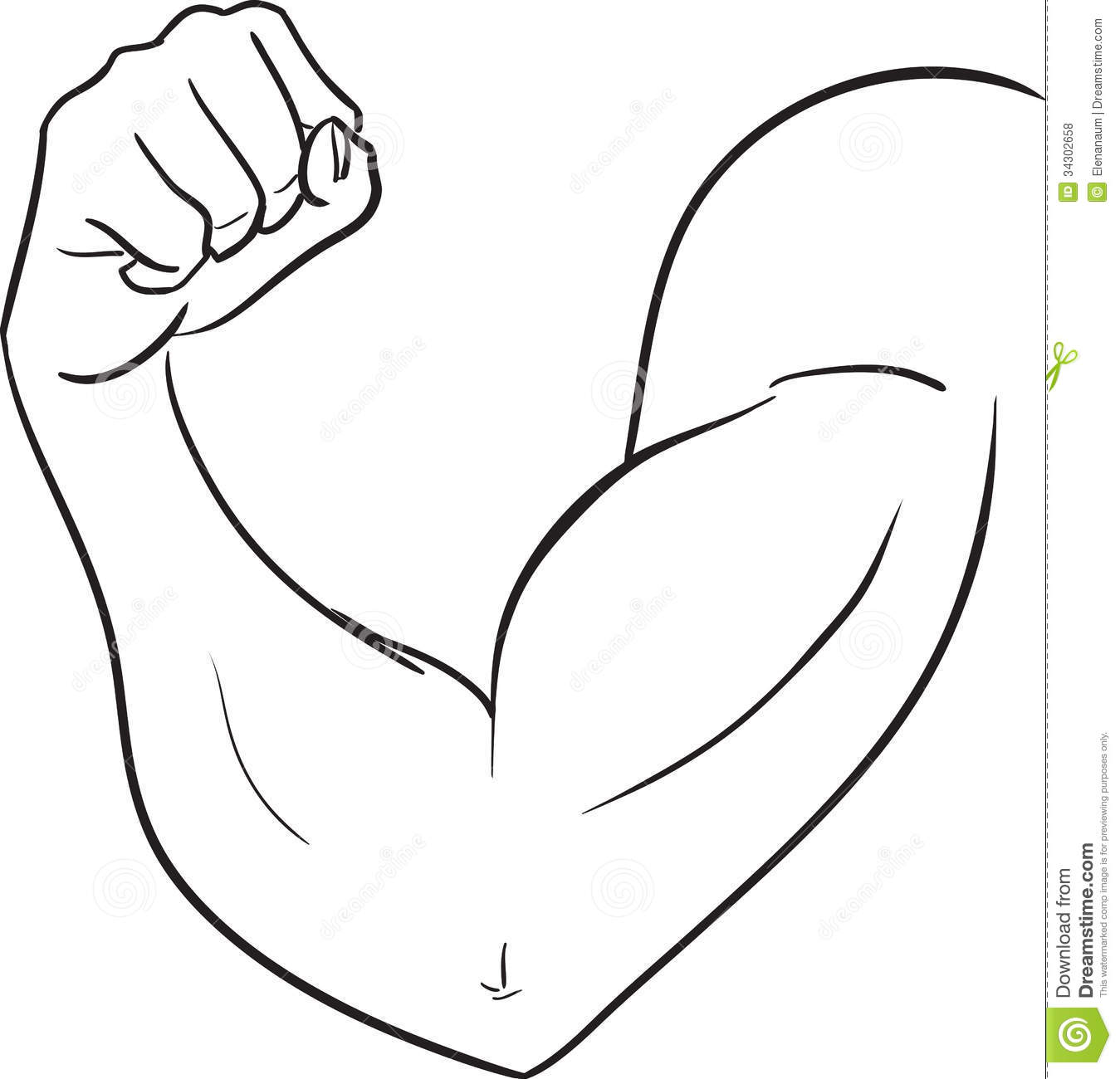clip royalty free download Muscle elbows transparent free. Arm clipart black and white