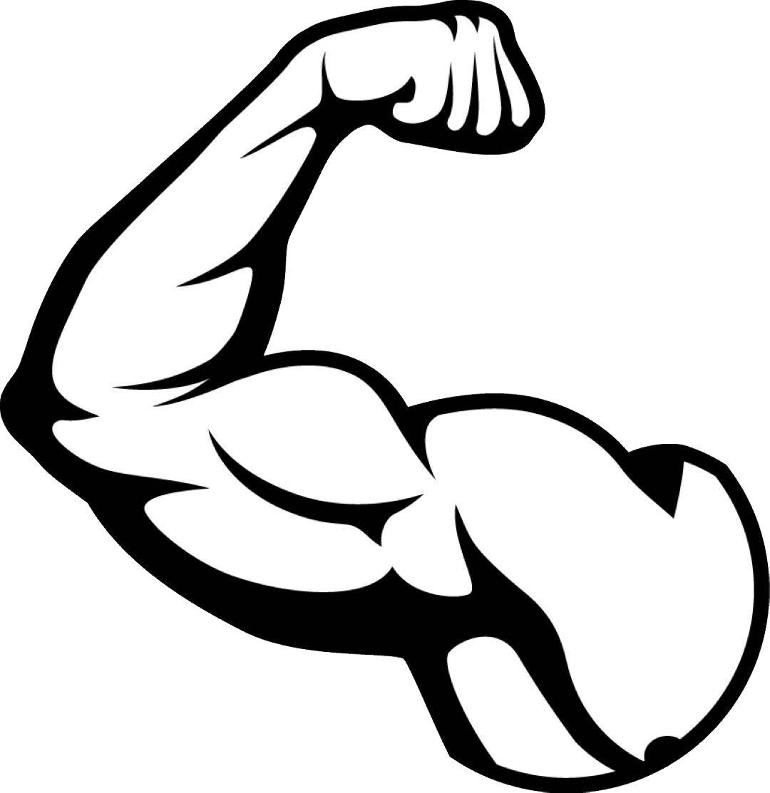 vector black and white stock Muscle PNG images free download