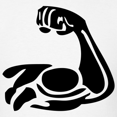 svg freeuse library Biceps muscle arm flex. Bicep clipart strength.