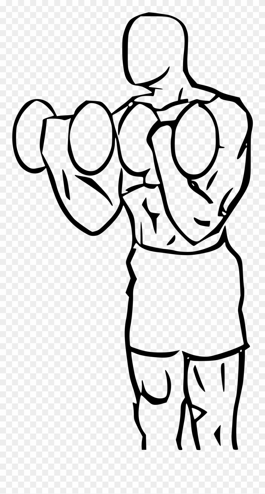 png royalty free download Biceps cartoon clip art. Bicep drawing animated