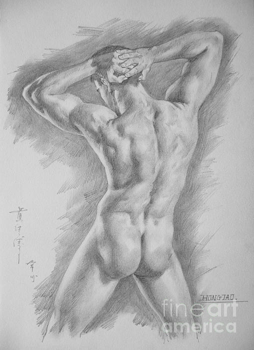 svg black and white stock Bicep drawing charcoal. Original art male nude