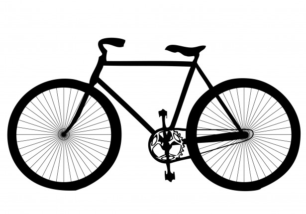 vector library Bicycle clipart. Free stock photo public.