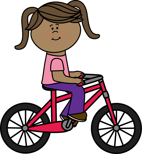 picture transparent library Bicycle clipart. Clip art images girl.