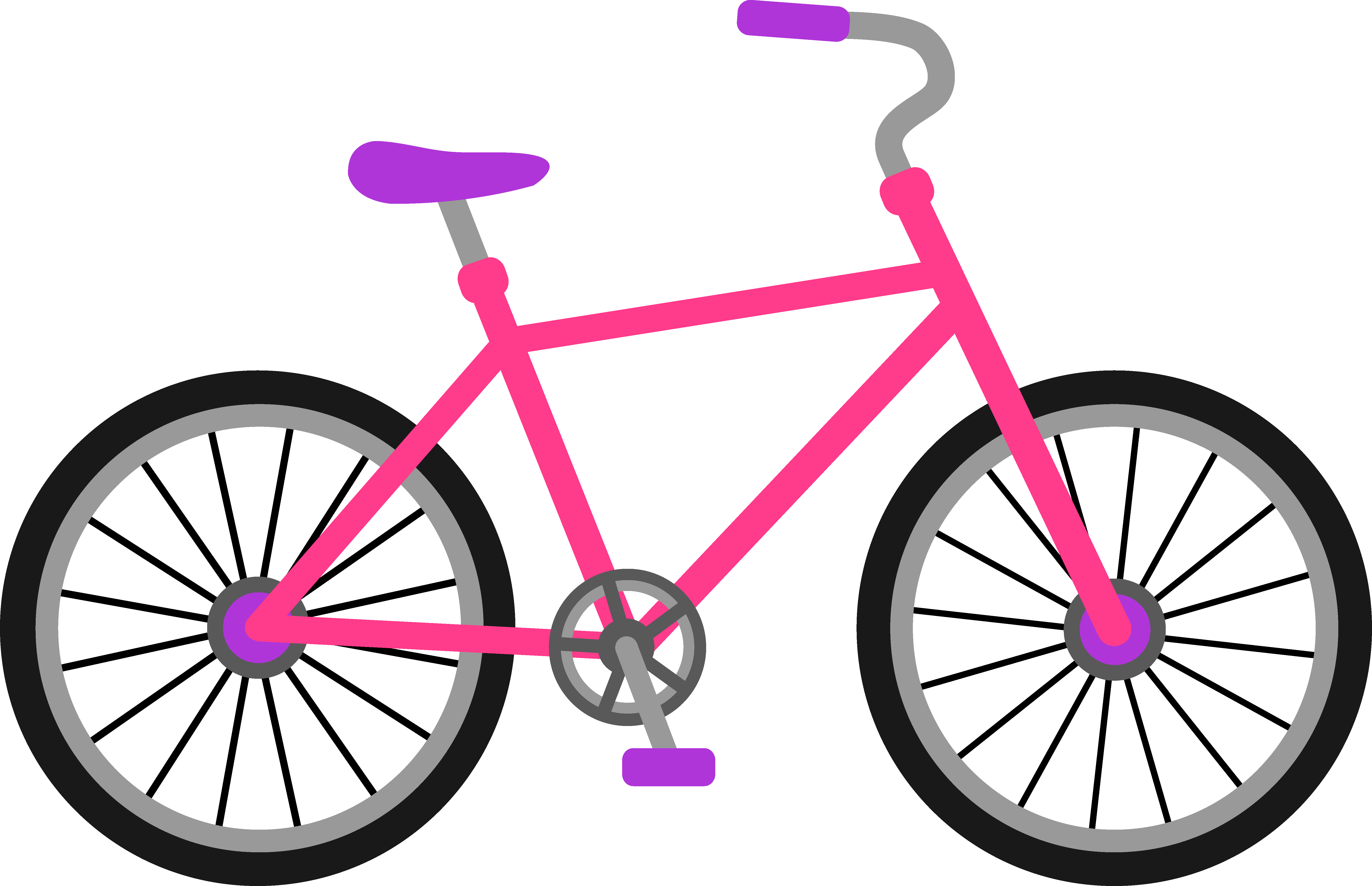 png free library Girl on . Bicycle clipart.