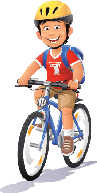 vector transparent library Bikes and bicycles boy. Bicycle clipart.