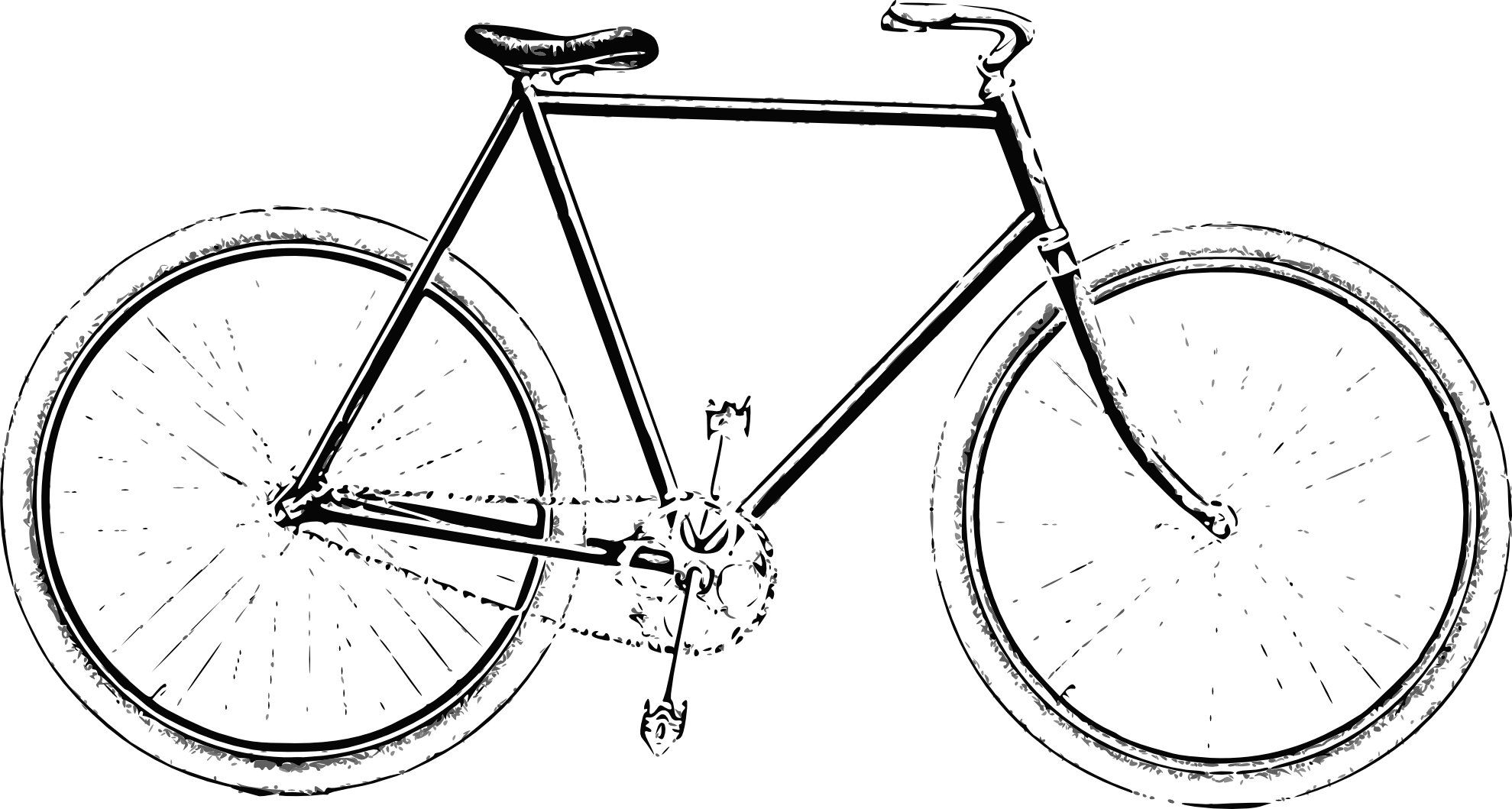 black and white library Bicycle