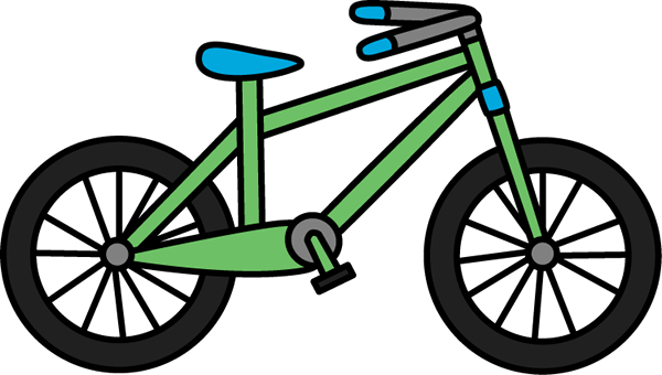 image freeuse download Green Bike Clipart