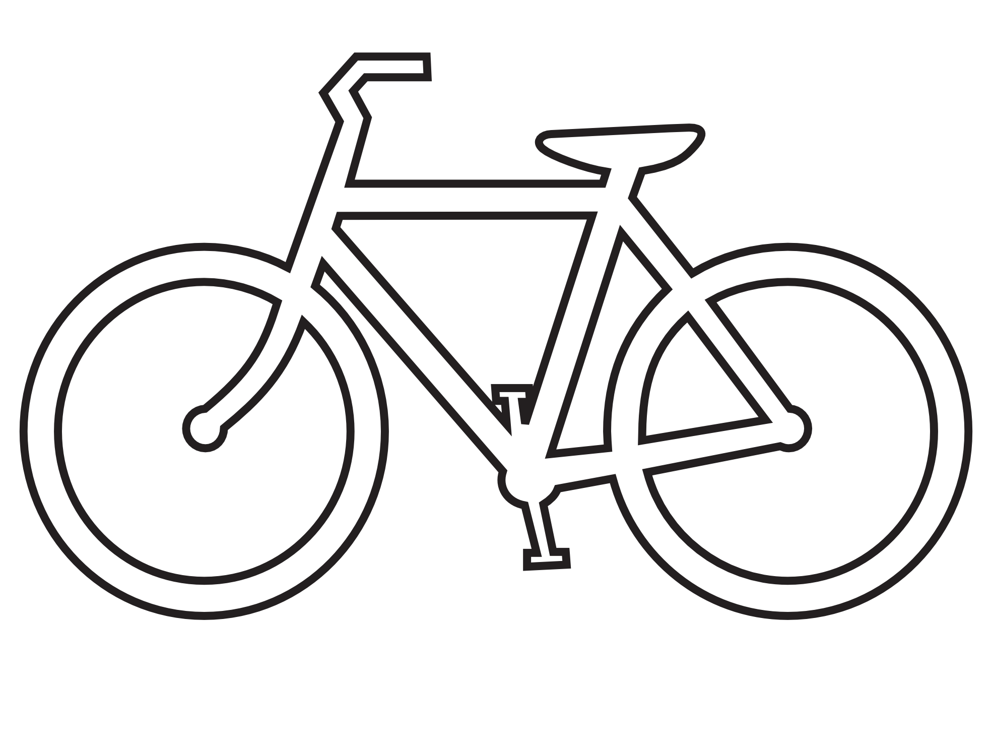 vector black and white library Black and white clipart. Clip art bicycle route
