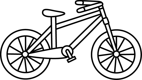 jpg Tricycle black and white. Biking clipart tree.