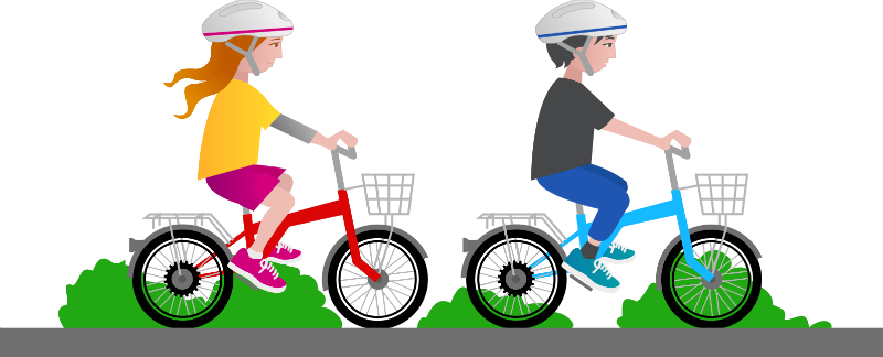 vector black and white library Bicycle clipart toddler bike. Benefits of riding for.