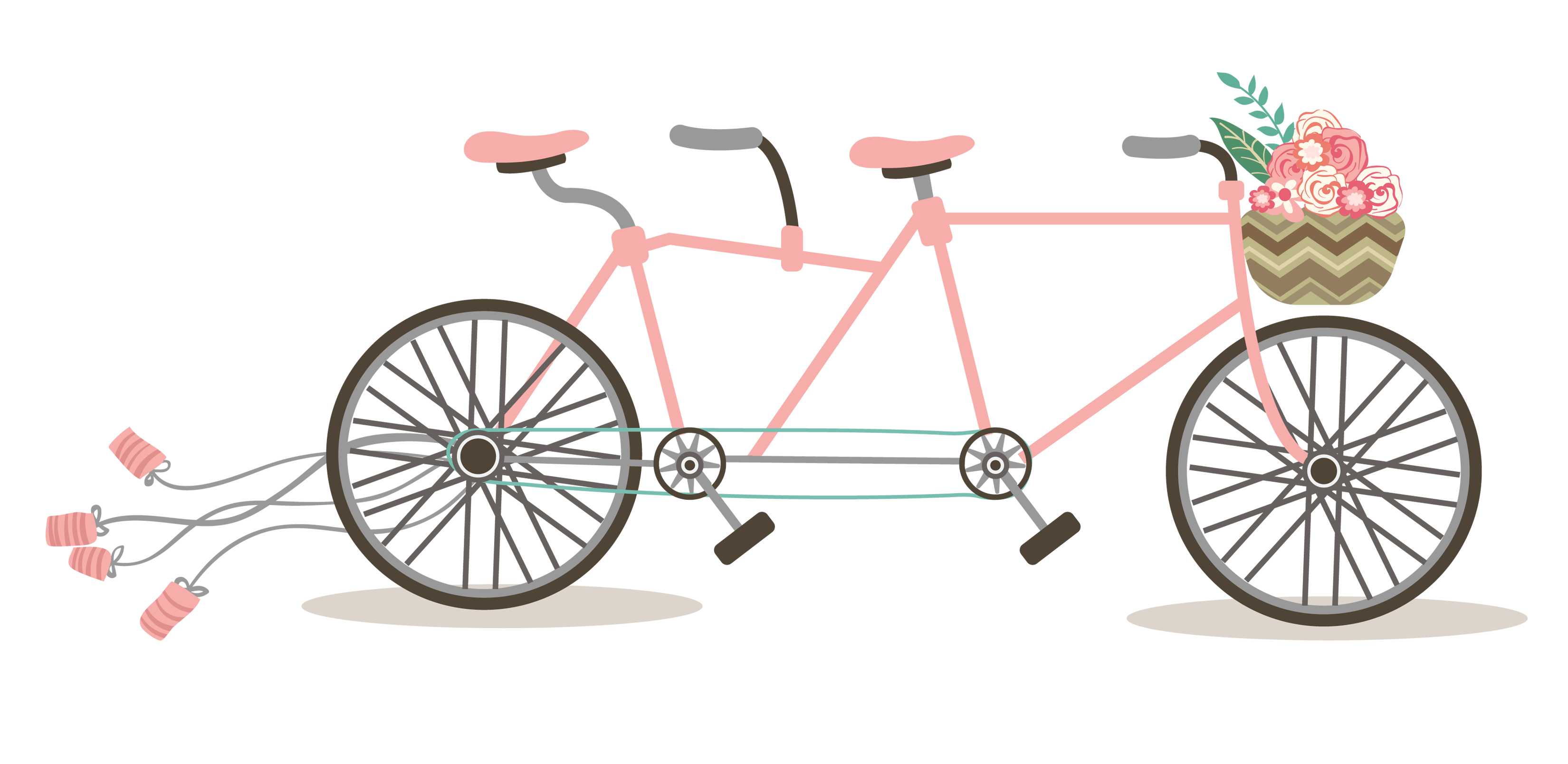 graphic library download Free romantic bicycle clip. Biking clipart wedding.