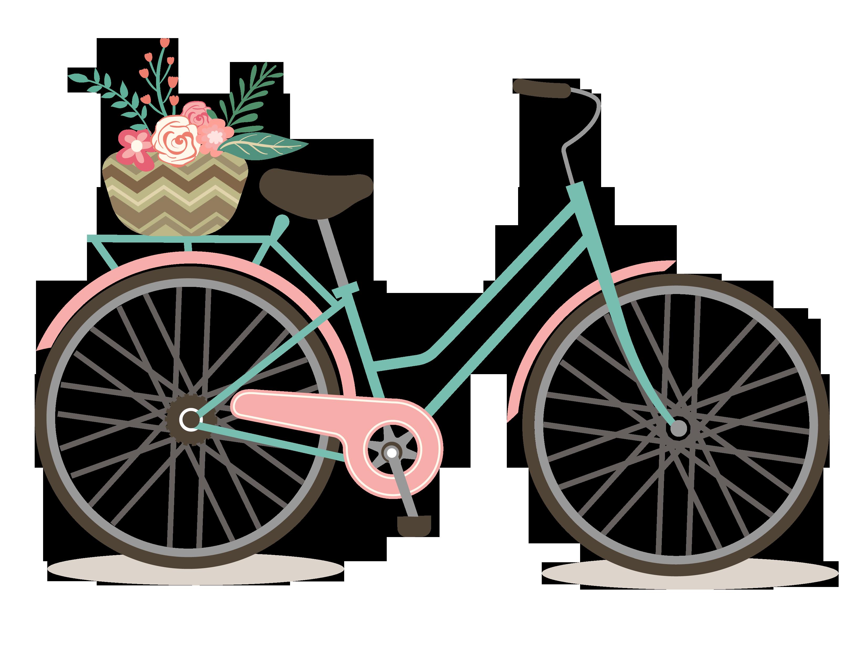 vector Free Romantic Bicycle Clip Art