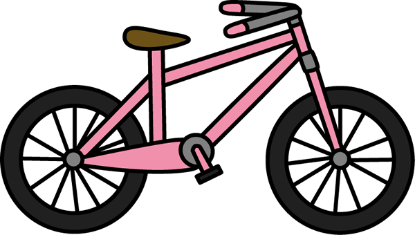 clipart transparent stock Bicycle clipart. Clip art images pink.