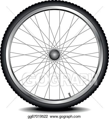 jpg library Eps vector bike stock. Bicycle wheel clipart