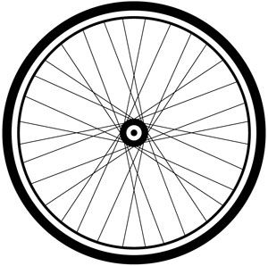 jpg black and white download Panda free images . Bike wheel clipart.