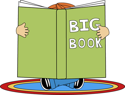 image royalty free library Kid Reading a Big Book Clip Art